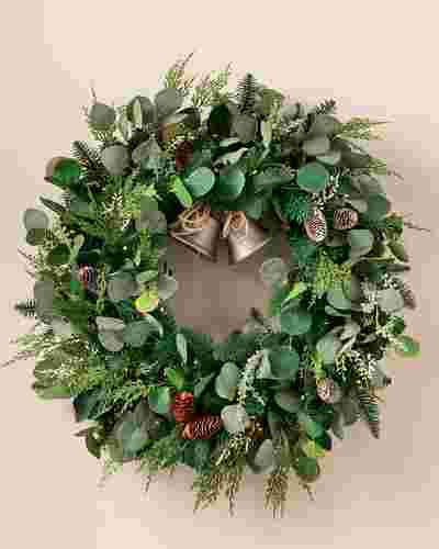 Outdoor Winter Eucalyptus Wreath by Balsam Hill