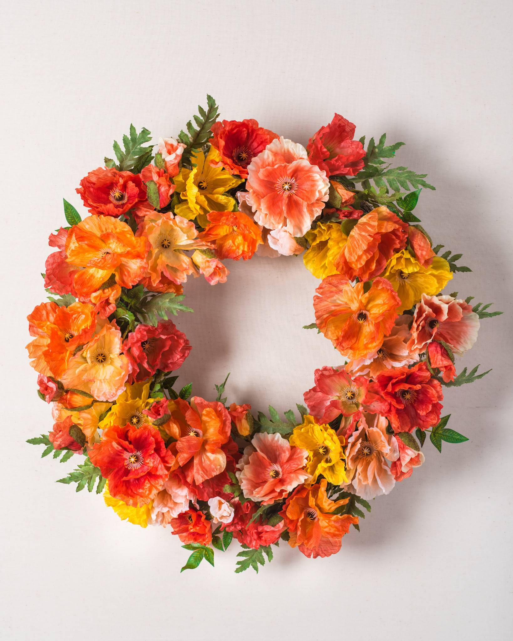Spring poppy flower wreath garland swag balsam hill spring poppy wreath spring poppy wreath mightylinksfo