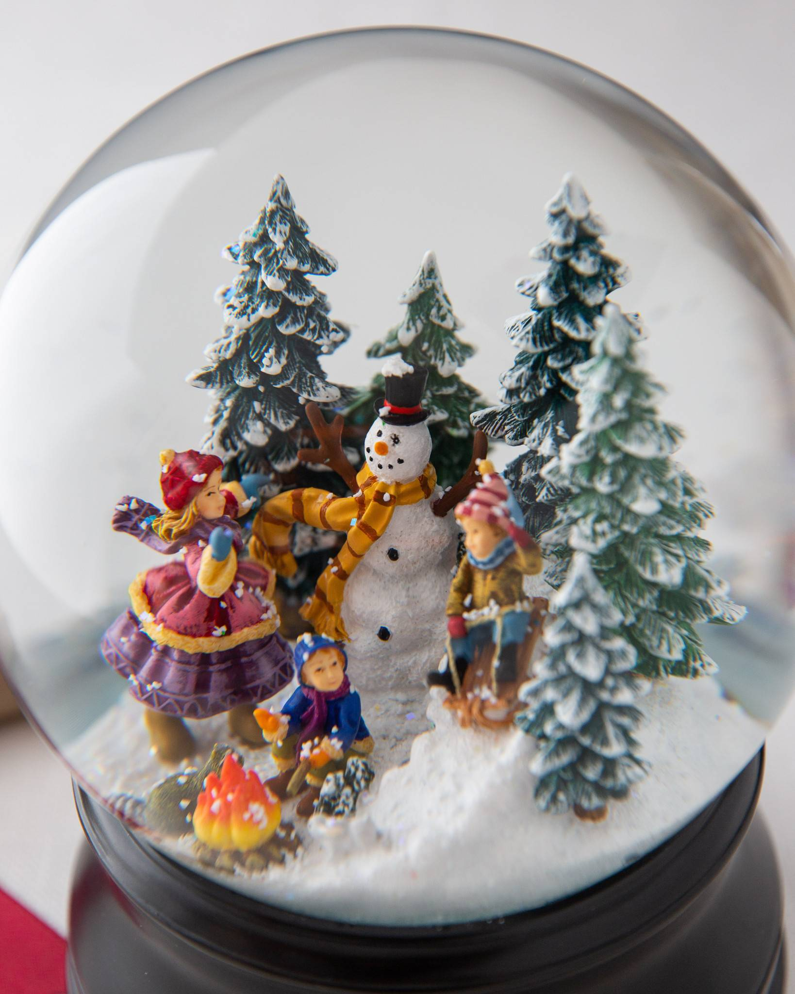 village snowman musical snow globe by balsam hill christmas