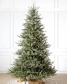 sanibel spruce artificial christmas tree by balsam hill sanibel spruce 9 clear led