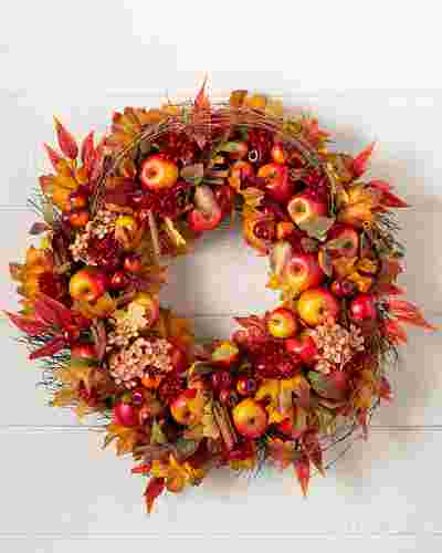 Apple Spice Artificial Wreath by Balsam Hill SSC 10
