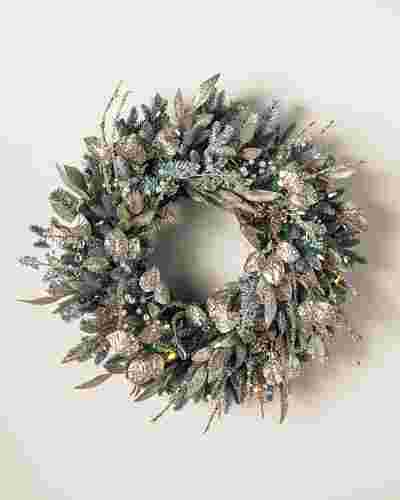 Nicole Miller Champagne Wreath by Balsam Hill