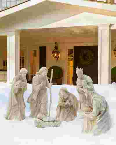 Outdoor Nativity Holy Family, Set of 3 Main