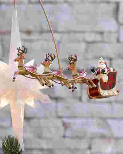 Santafts Sleigh Animated Tree Topper Main