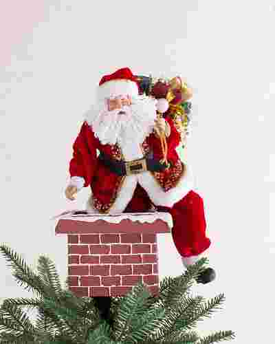 Jolly Saint Nick Christmas Tree Topper by Balsam Hill