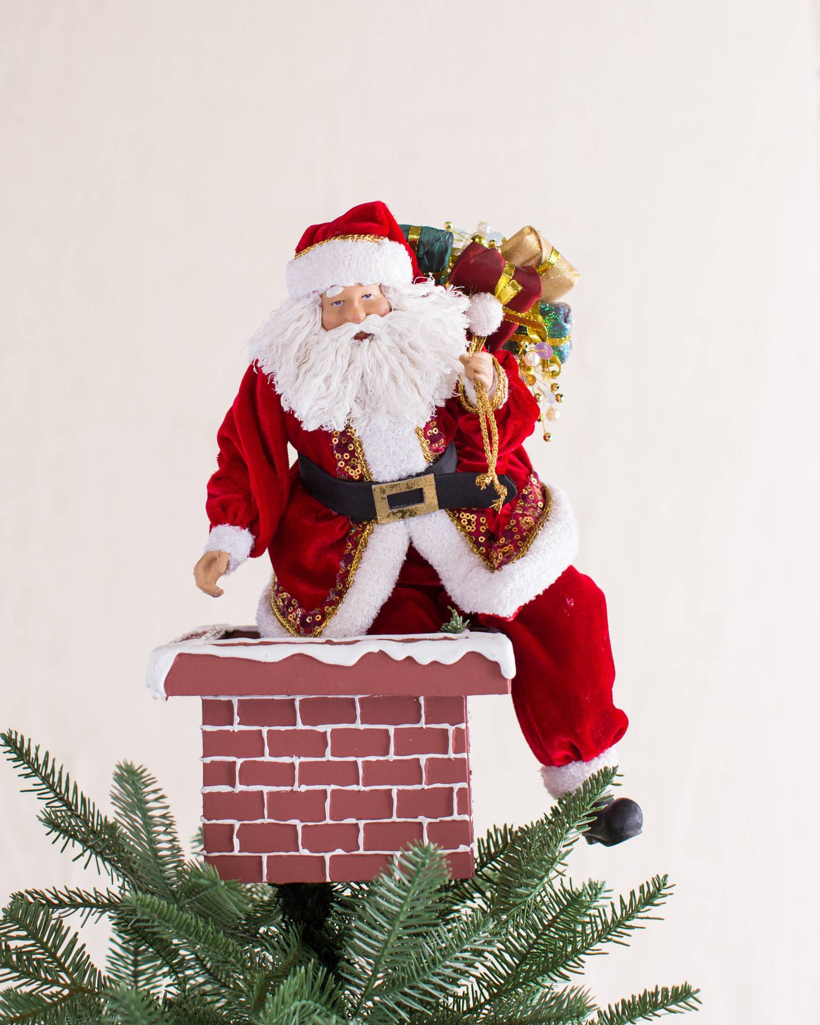 jolly saint nick tree topper main - Santa Christmas Tree Topper