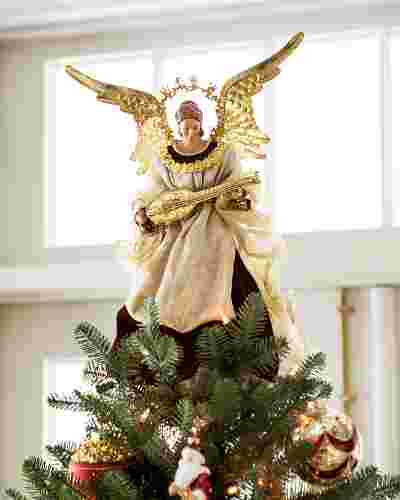 Noel Angel Christmas Tree Topper by Balsam Hill