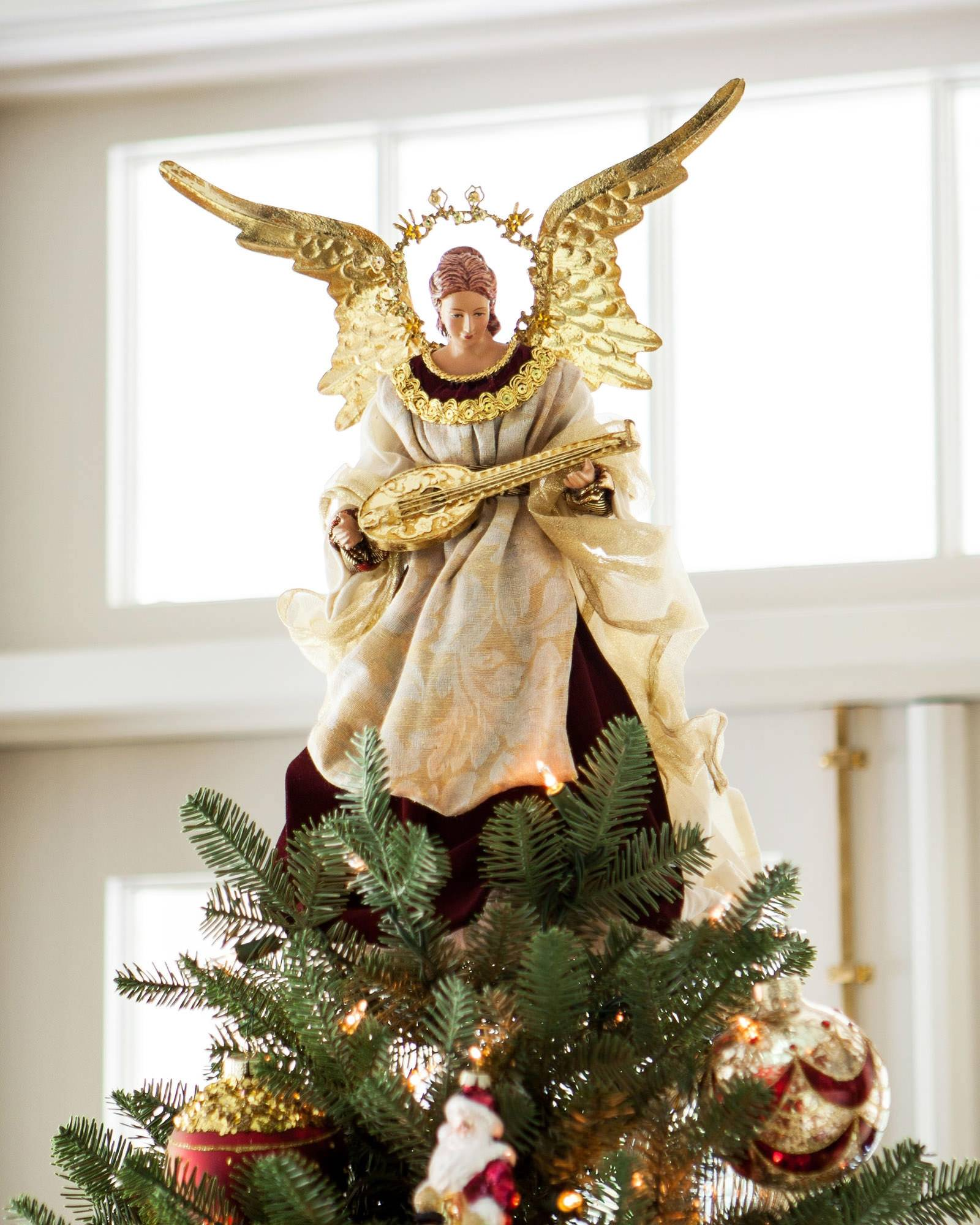 Christmas Tree Topper.Noel Angel Christmas Tree Topper Balsam Hill Uk