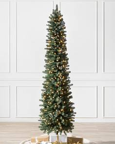Slimline Christmas Trees With Lights