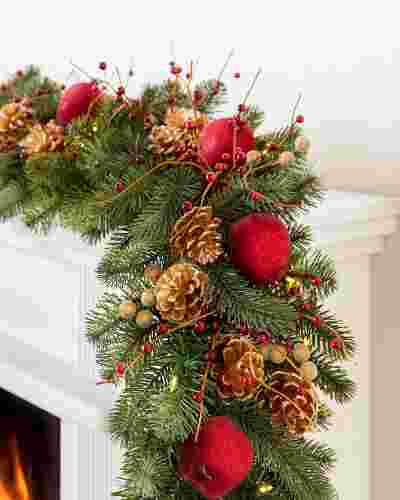 Vermont White Spruce Bordeaux Garland by Balsam Hill SSC