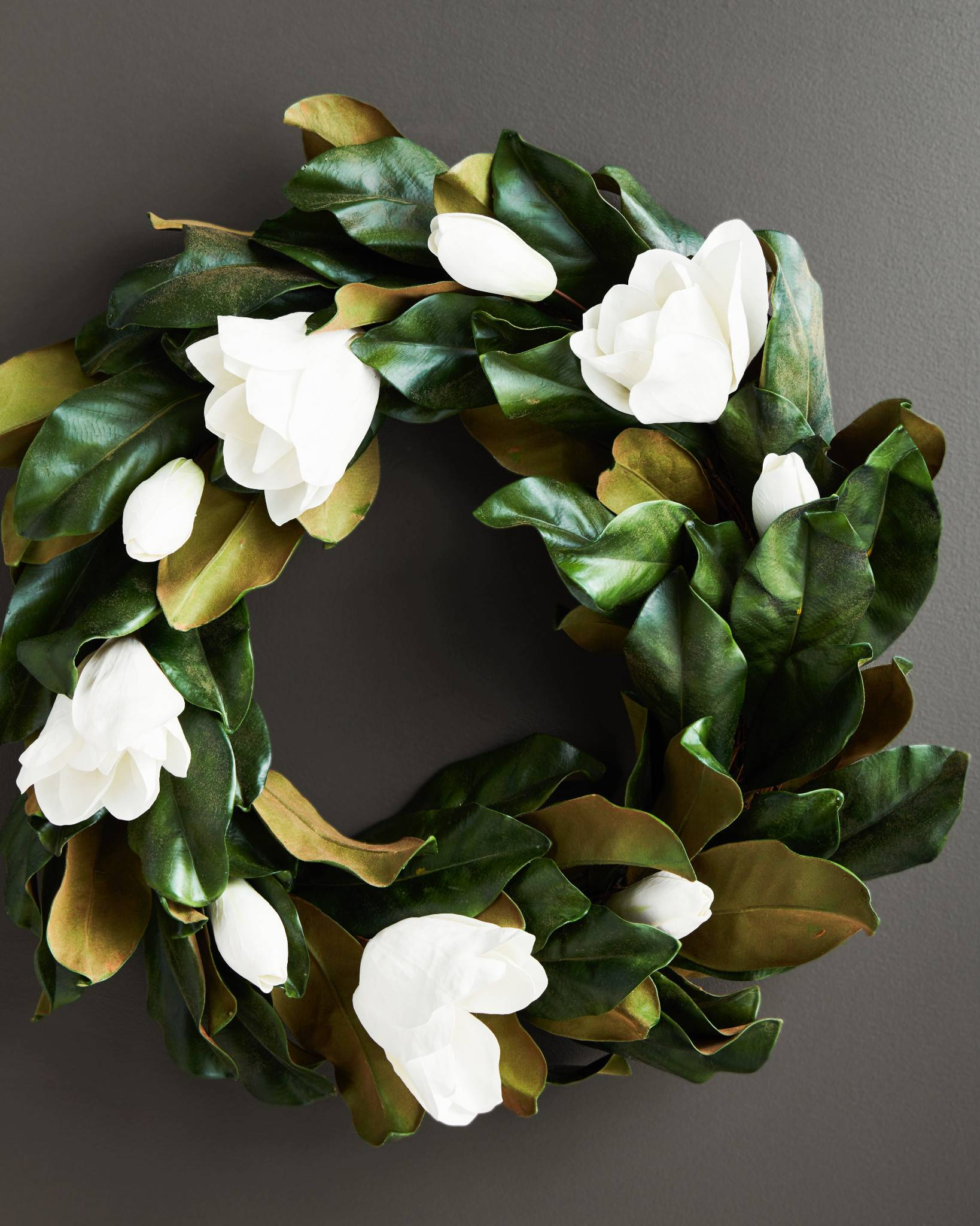 Magnolia Flower Arrangement Wreath Balsam Hill