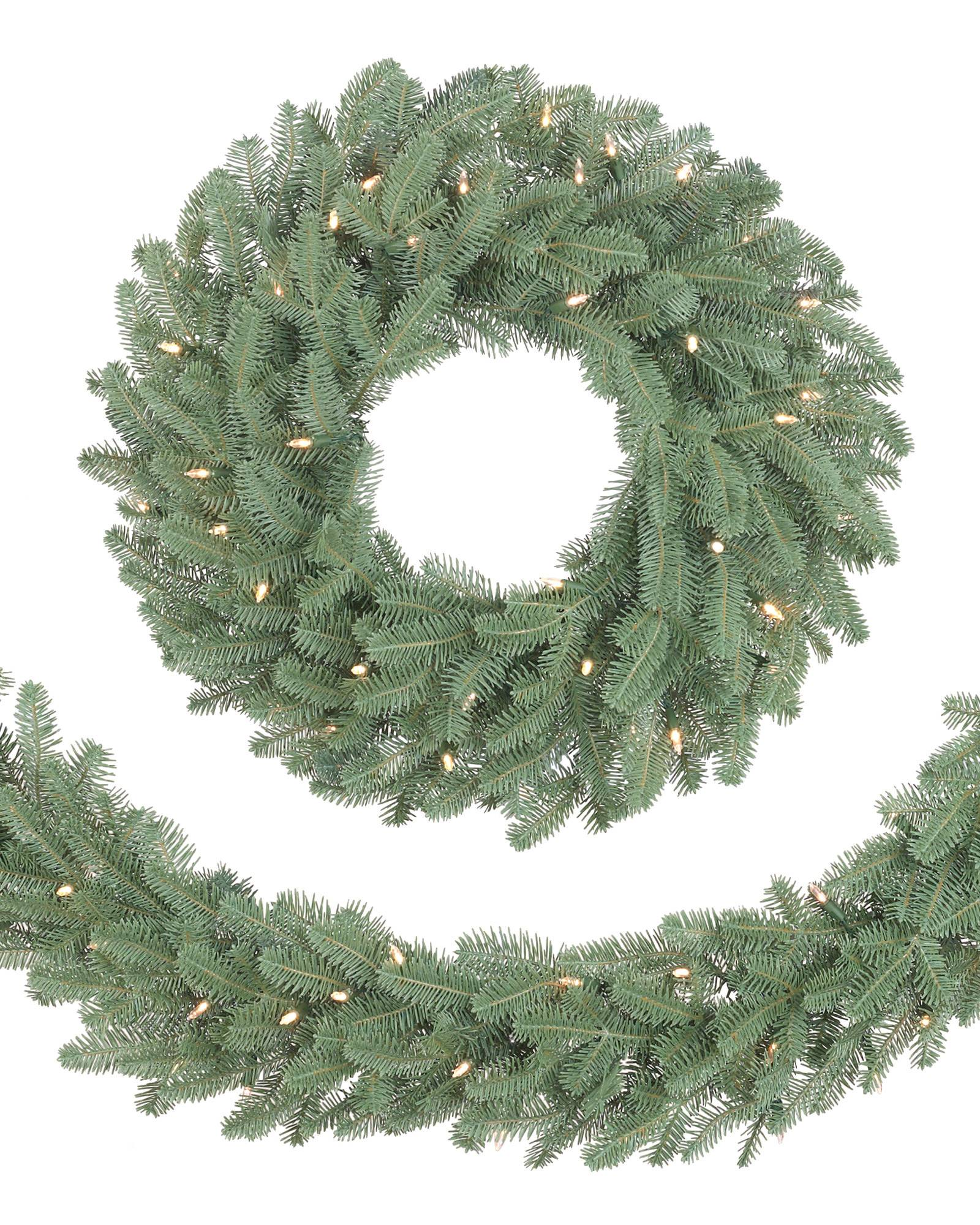 bh balsam fir garland main - Artificial Christmas Wreaths Decorated