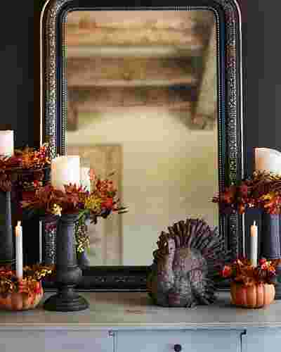 Autumn Medley Candle Foliage by Balsam Hill