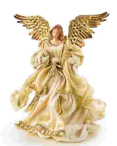Gold Angel Tree Topper Main Image