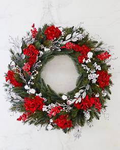 silver bells foliage by balsam hill - Red Christmas Wreath