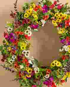 Outdoor Safe Meadow Wreath