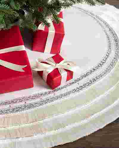 60in Plaza Fringed Tree Skirt by Balsam Hill