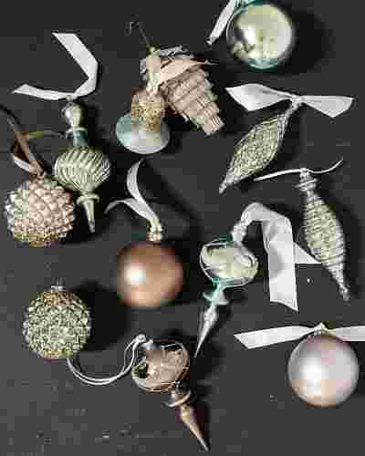 Winter Frost Glass Ornament Set (35 Pieces) by Balsam Hill