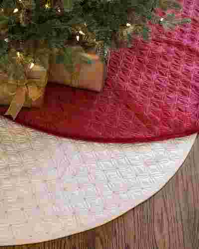 48in Ivory Lancaster Quilted Tree Skirt Main