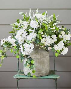 White Artificial Flowers Wreaths And Decorations Balsam Hill