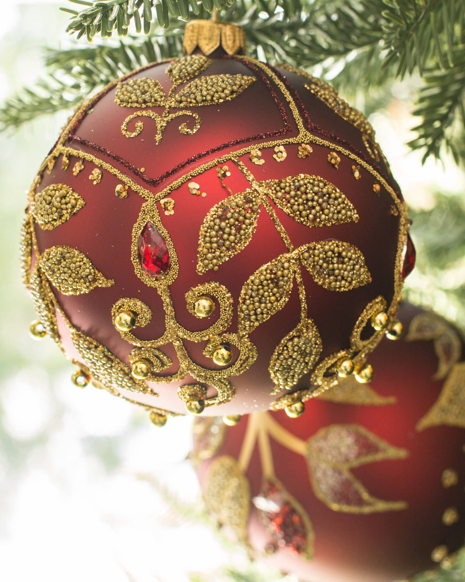 Decorated Glass Ball Ornaments,Set of 4 | Balsam Hill
