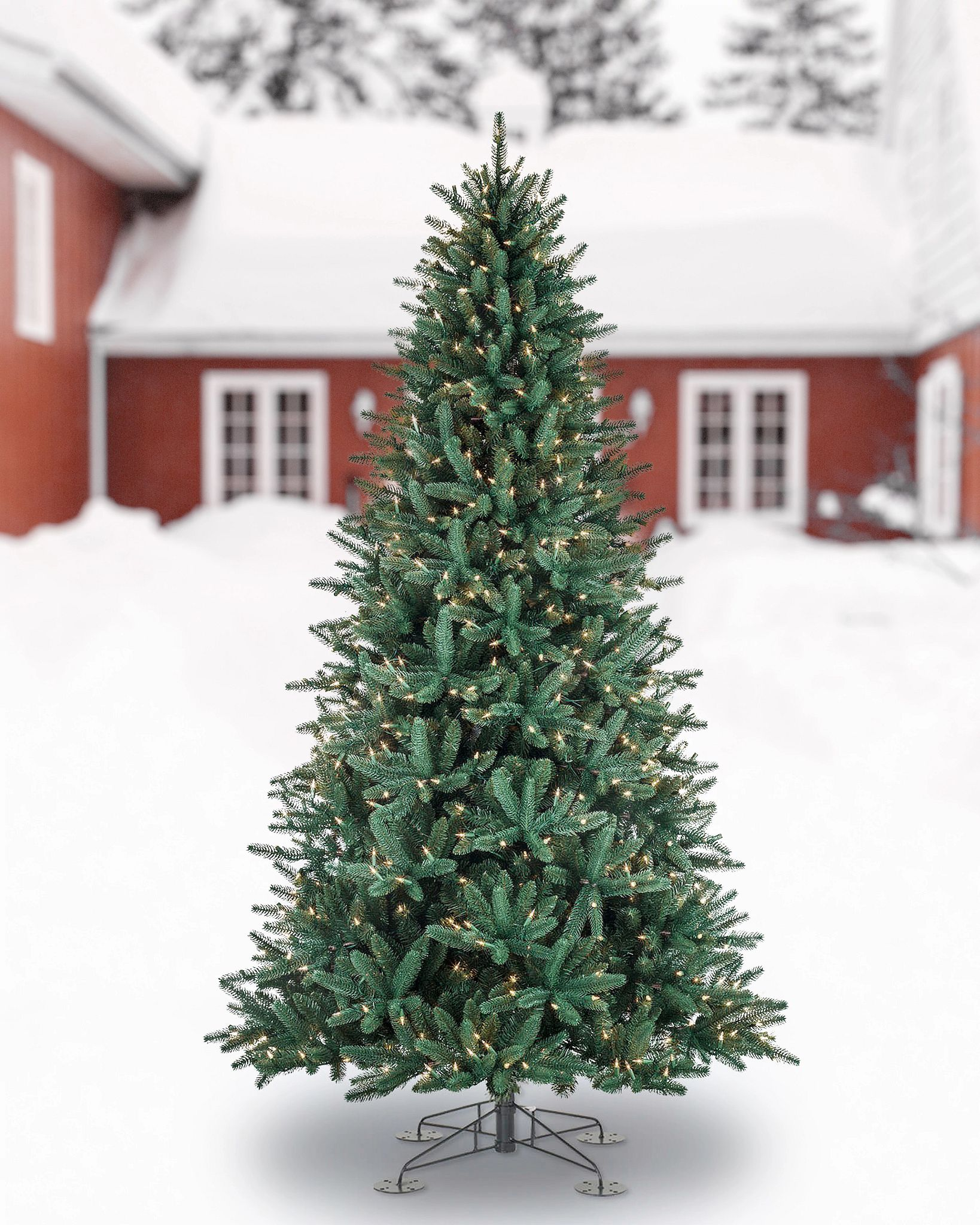 Oakville Narrow Outdoor Christmas Tree Balsam Hill