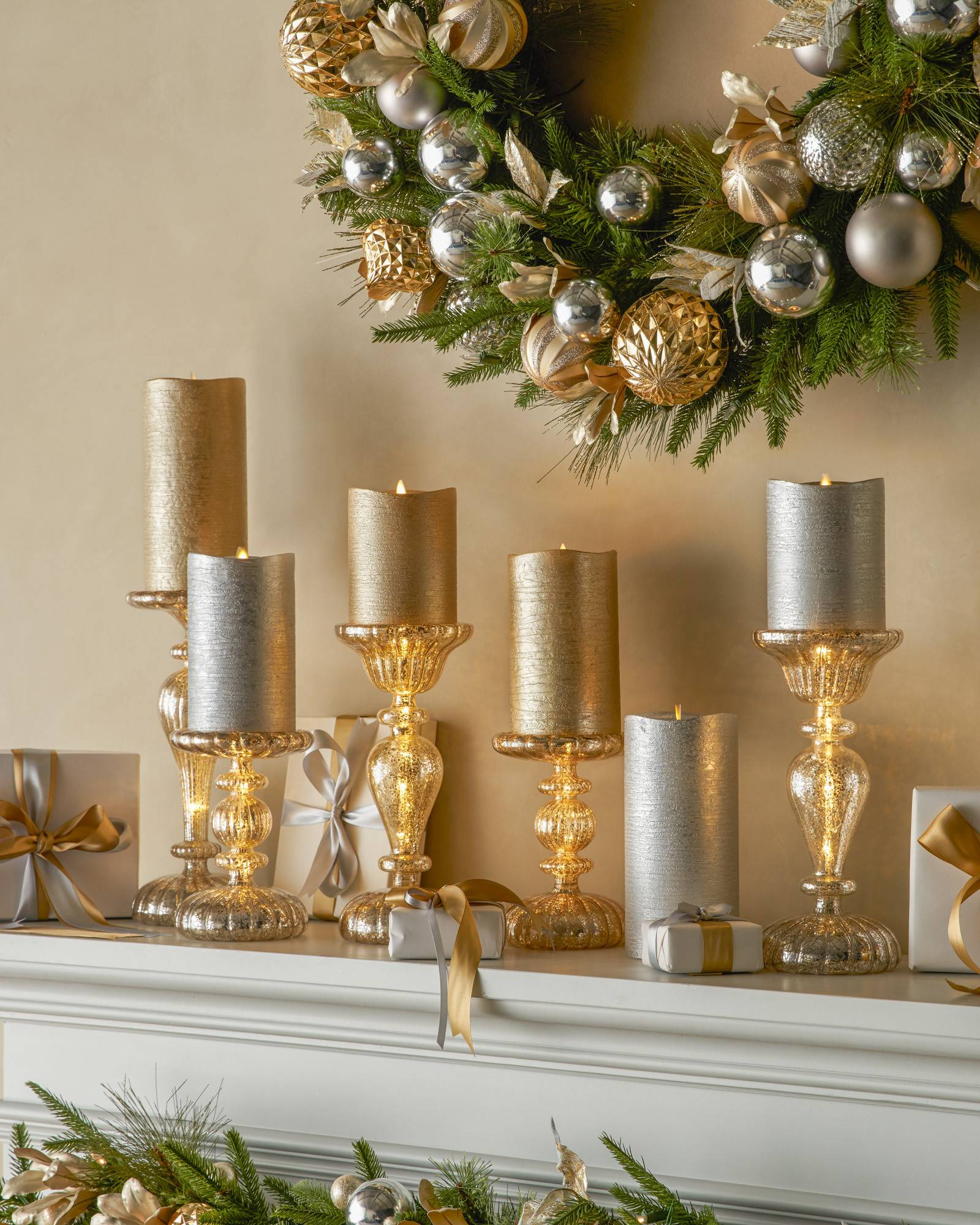 led mercury glass candle holders alt