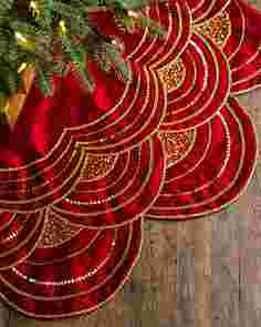 Elizabeth Beaded Tree Skirt by Balsam Hill SSC 30