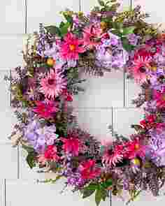 Vibrant Summer Bloom Wreath by Balsam Hill