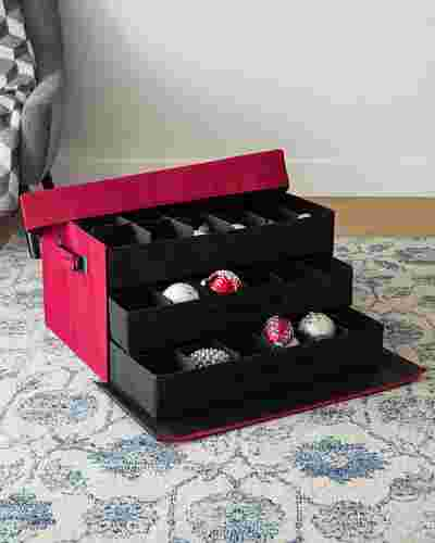 72-Piece Christmas Ornament Storage Box by Balsam Hill