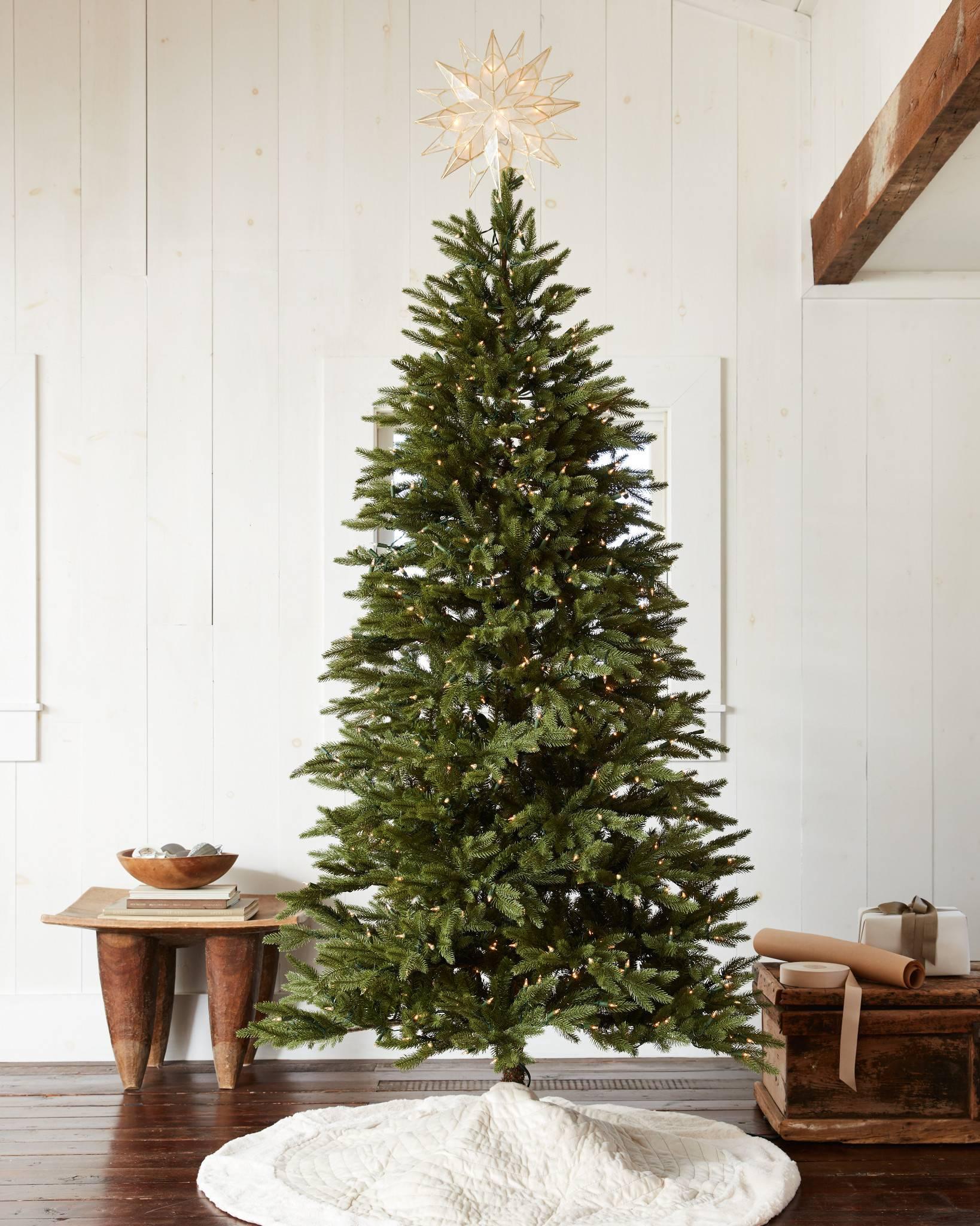 silverado slim artificial christmas tree in home by balsam hill - 7ft Slim Christmas Tree