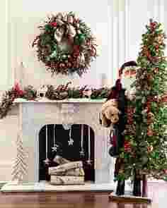 Life-Size Santa With Dog Figure Main