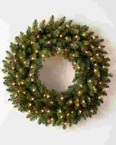 Berkshire Mountain Fir Wreath by Balsam Hill SSC 10