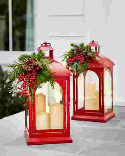 Seasonal Lantern with LED Candles by Balsam Hill Lifestyle 30