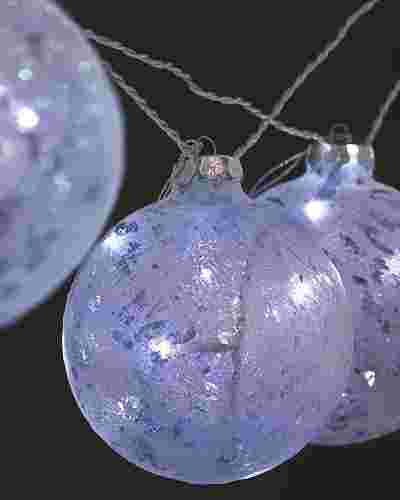 Glitter Art Glass Ornament Lights Main