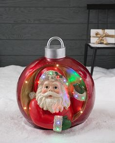 ... Santa Outdoor Musical Grand Ornament By Balsam Hill