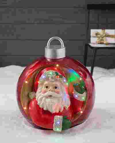 Santa Outdoor Musical Grand Ornament by Balsam Hill