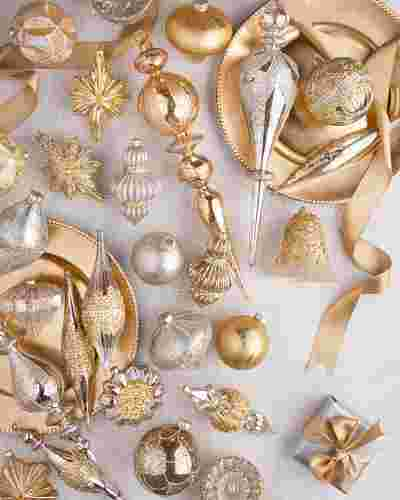 Silver and Gold Ornament Set by Balsam Hill