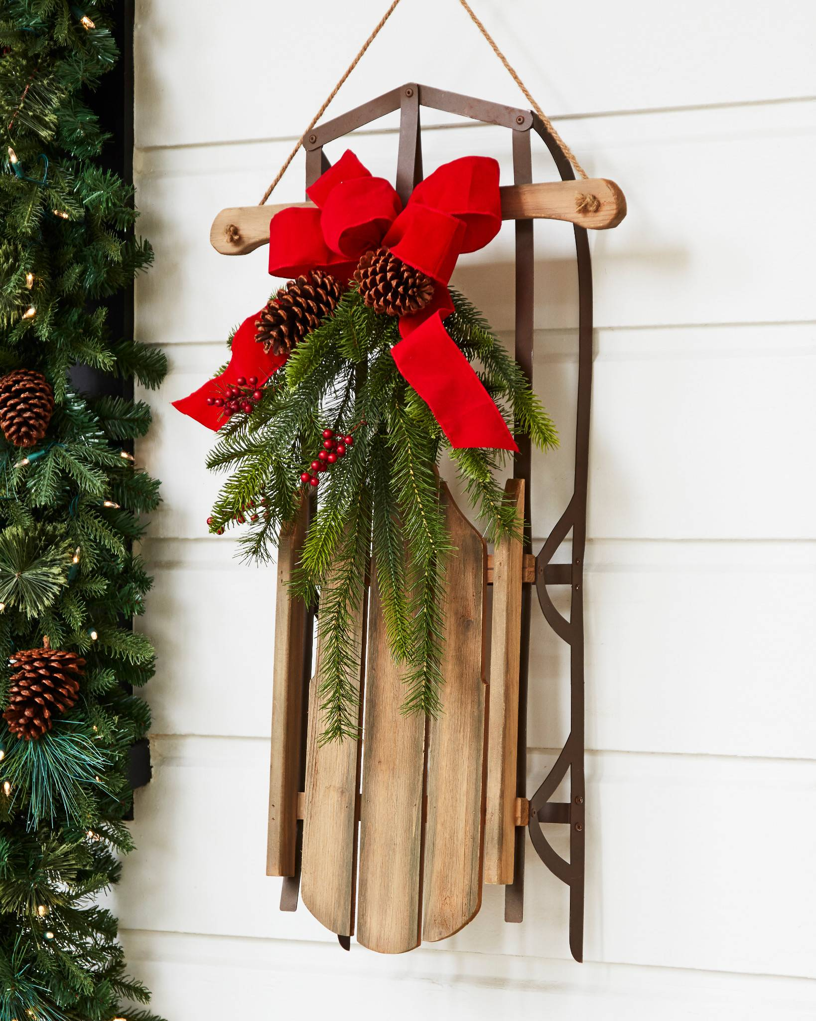... Holiday Hill Decorative Sled by Balsam Hill ...