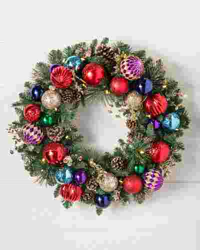 Outdoor Kaleidoscope Wreath by Balsam Hill