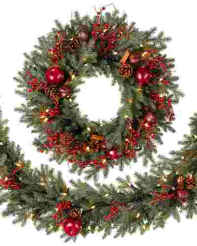 Heritage Spice Christmas Wreath And Garland Balsam Hill