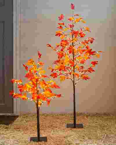 Outdoor LED Autumn Maple Tree  by Balsam Hill
