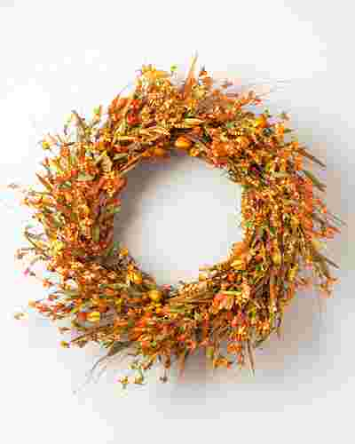 Sunset Meadow Wreath by Balsam Hill High Res