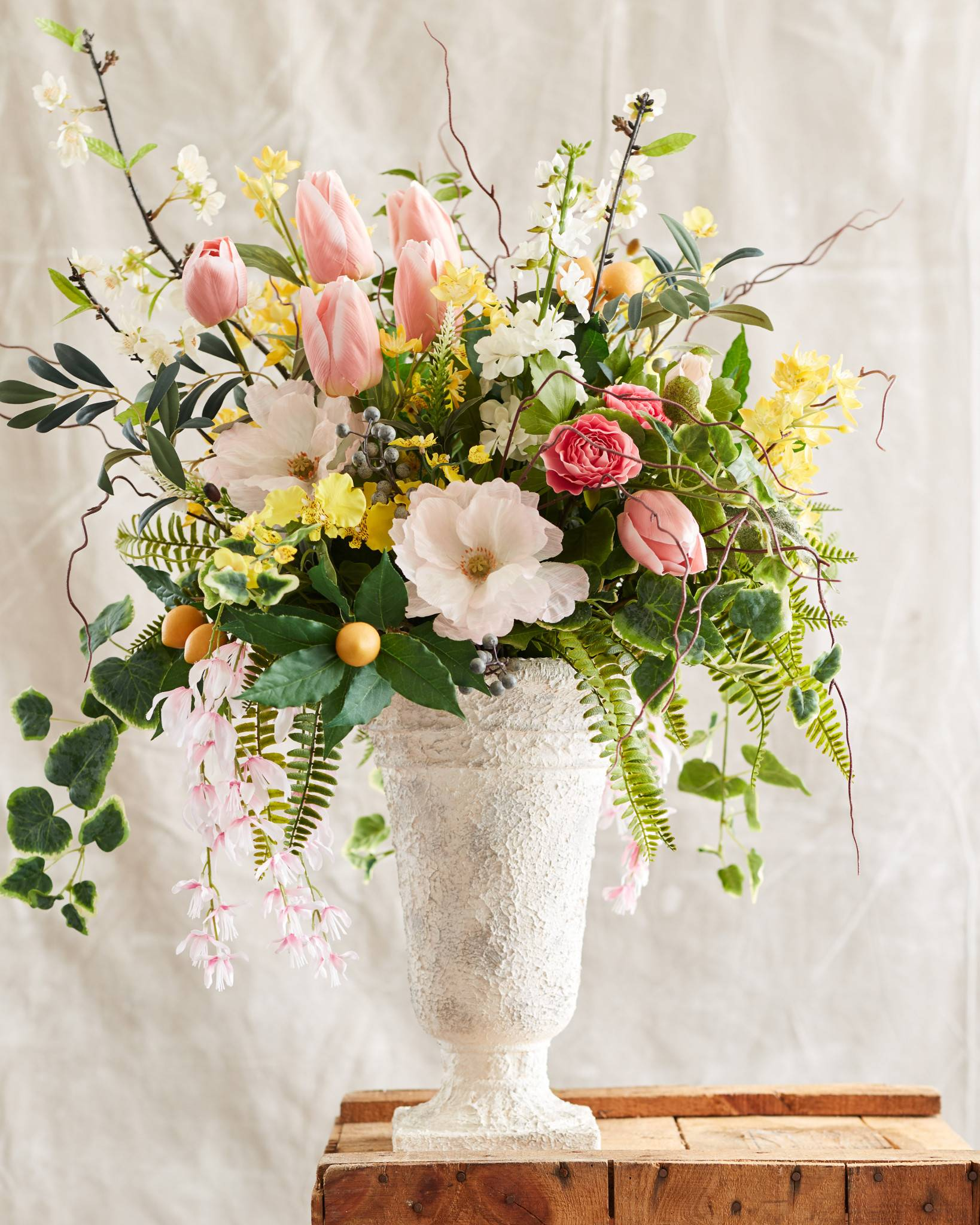 Spring In Bloom Arrangement And Wreath Balsam Hill