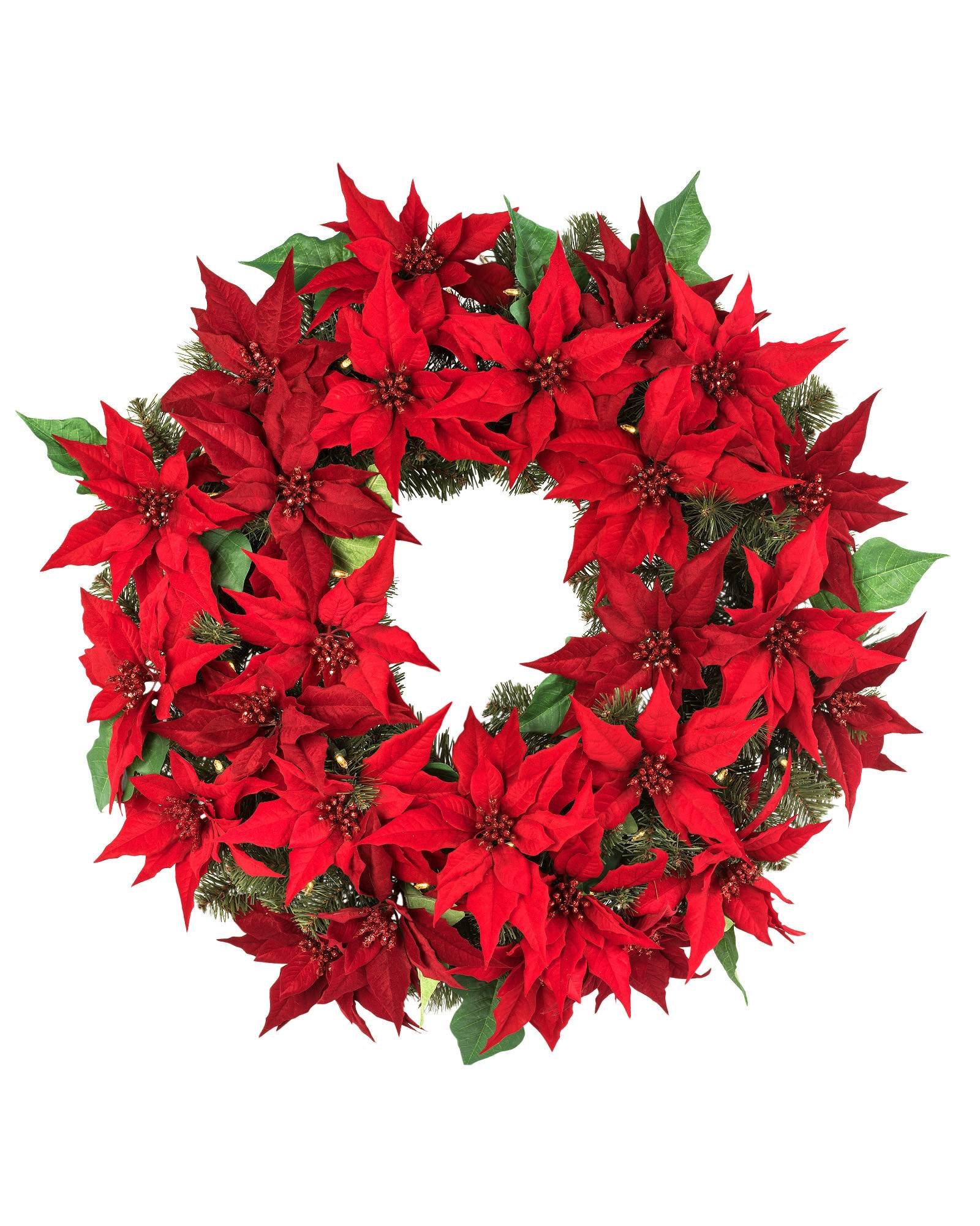Christmas poinsettia decorations for 5ft poinsettia garland christmas decoration