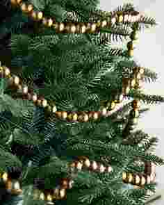 Gold Bead Garland Set of 3 by Balsam Hill