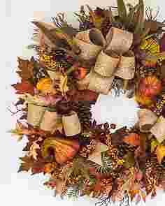 Fall Harvest Wreath by Balsam Hill