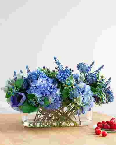 Rhapsody in Blue Floral Arrangement by Balsam Hill
