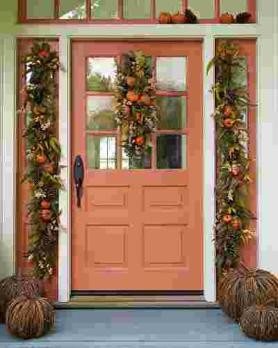 Autumn Abundance Artificial Wreath by Balsam Hill