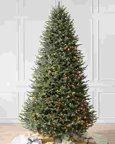 Bh Balsam Fir Narrow Artificial Christmas Tree Balsam Hill